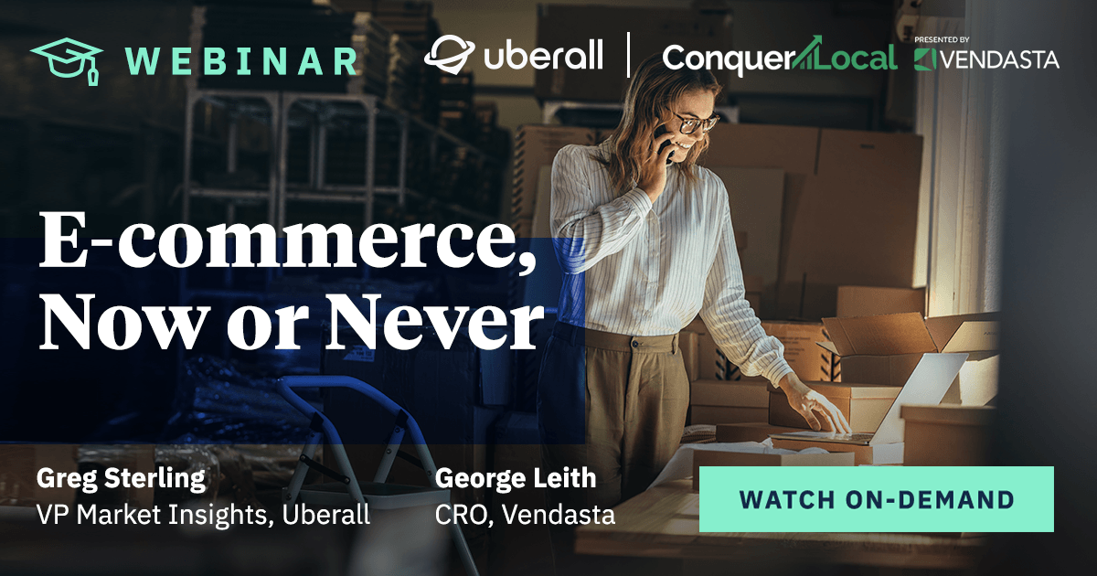E-commerce, Now or Never